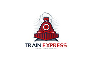 Train Exspress Logo Template