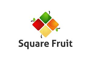 Square Fruit Logo Template