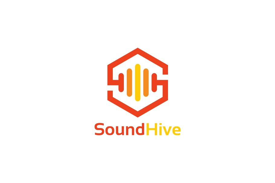 Sound Hive - Letter S Logo Template