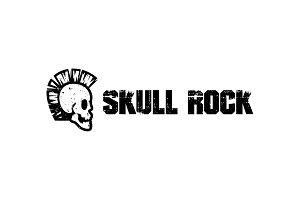Punk Skull Rocker Logo Template