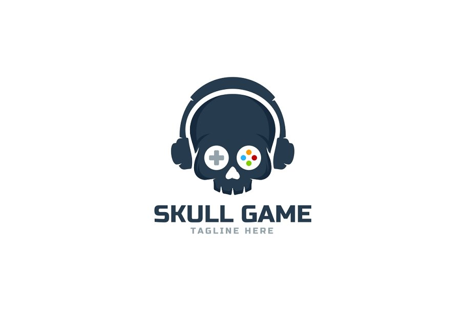 Skull Game Logo Template