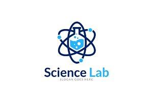 Atomic Science Lab Logo Template