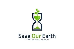 Save Earth - Go Green Logo Template