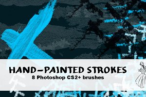 8 Hand-Painted Brushes