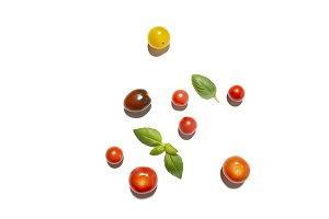 Tomato medley and basil
