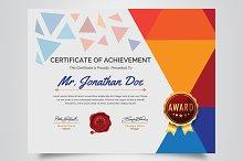 Multicolored Certificate