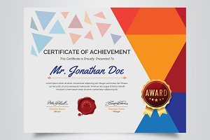 Multicolored Certificate