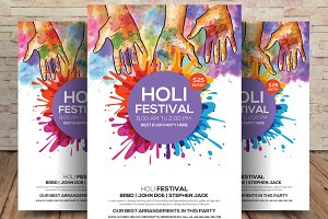 WOW Holi Festival Flyer Template