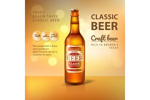 Craft Beer in Glass Bottle Promo