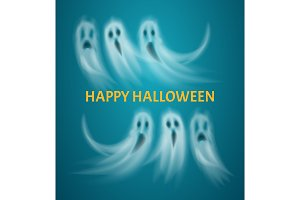 Happy Halloween Poster with Text