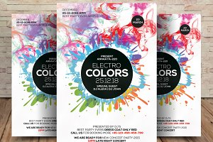 Electro Colors Flyer Template