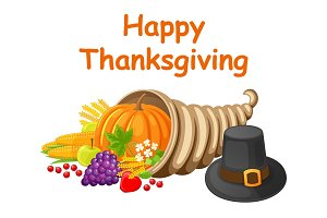 Happy Thanksgiving Day Poster with