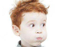 dishevelled red head boy