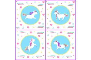 Unicorns Design of Mythological