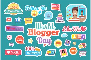World Blogger Day Follow Me Button