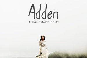Adden Handmade Sans Serif Font