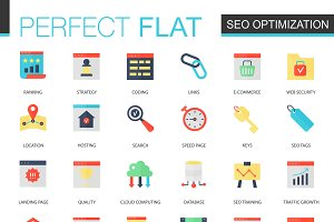 Seo optimization icons.