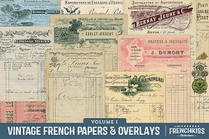 Vintage French Papers & Overlays V.1