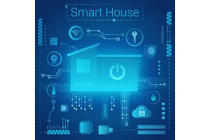 Smart home abstract concept