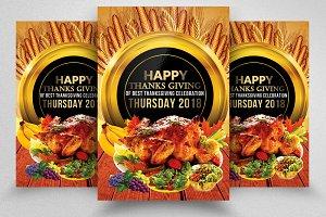 Thanksgiving Flyer Templates 10