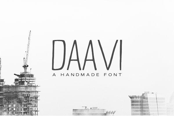 Best Daavi Handmade Sans Serif Font Vector