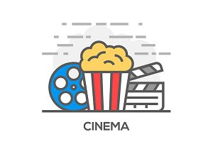 Movie and Cinema Illustration