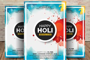 Festival Of Color Holi Flyer Poster