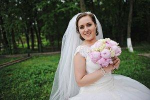 Close up portrait of beautiful bride
