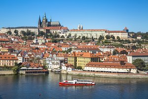 Old town of Prague and Prague castle