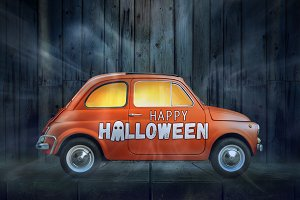 Happy Halloween car