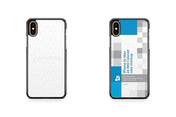 iPhone Xs Max 2d PC Colored Case