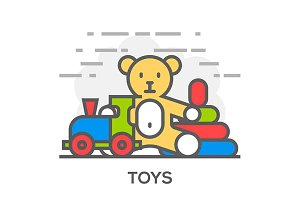 Toys Illustration