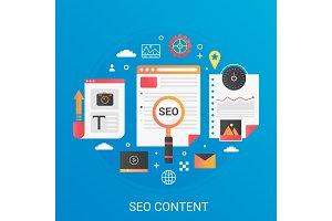 SEO content development concept
