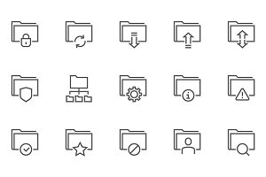 Archive and Folders Icons