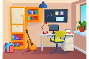 Student or pupil room workplace