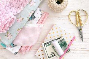 Handmade fabric background