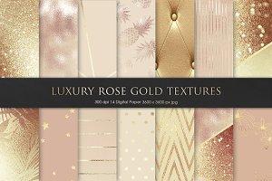 Luxury Rose, Gold, Bronze Textures