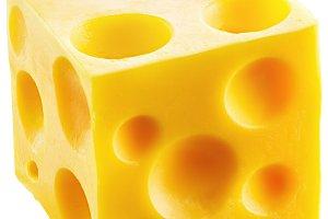 Holey cheese cube.