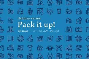 Pack it up! / holiday icons