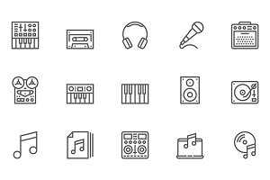 Music Vector Line Icons