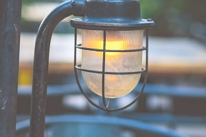 Vintage lamp outdoor