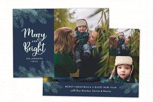 Christmas Card Template CC218