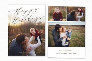 Christmas Card Template CC214