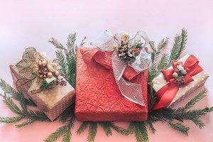 Beautiful gift holiday box