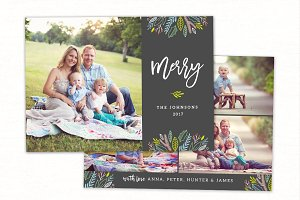 Christmas Card Template CC168