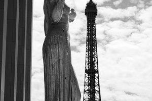 Eiffel Tower & Statue, Paris