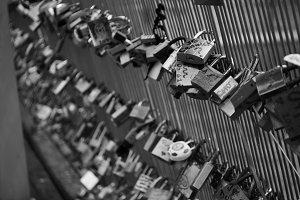 Love Padlocks on the Ponts des Arts