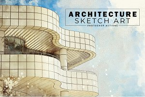 Architecture Sketch Art PS Actions
