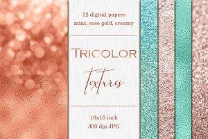 12 Bokeh, Foil & Glitter textures