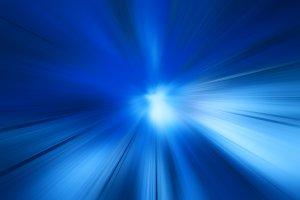 Radial blue motion blur background